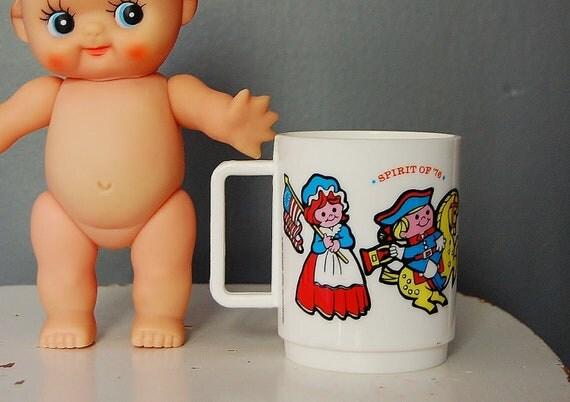 Vintage 1976 Mug Melmac 4th of July Kids