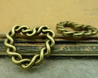 20pcs 20x21mm The Heart Antique Bronze Retro Pendant Charm For Jewelry Bracelet Necklace Charms Pendants C4347