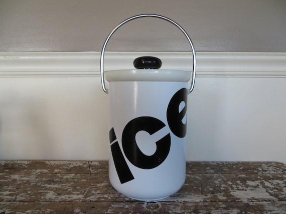 Ice Bucket Kromex Ice Bucket Black and White