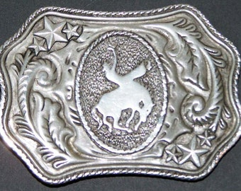 Vintage Aluminum Bronco Belt Buckle