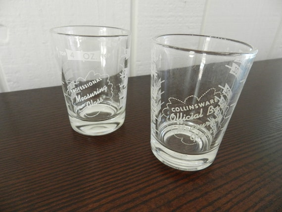 4 Ounce Professional Measuring Glass Large Shot Glasses Great for Entertaining Set of 2