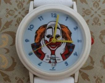"""Pierre Lannier """"Clown"""" watch - white band"""