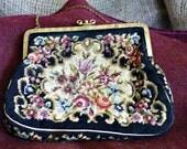 Vintage needlepoint purse RESERVED FOR ELIT