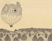 Fugu Balloon- 9x12 Print