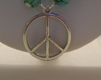 573 - Peace Sign Necklace