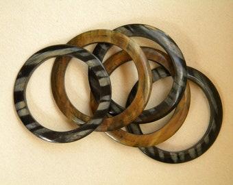 Mid-Century 1970s SAFARI African Style BANGLE Fashion Bracelet SET