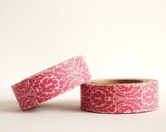 Pink Damask Washi Tape