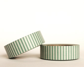 Dark Teal Vertical Stripes Washi Tape