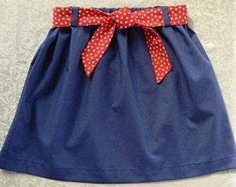 Skirt Sewing Pattern PDF - Easy -Size 12 months to 10 years
