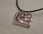 Day 6 - Sterling silver and copper pendant necklace