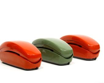 Olive Trimline Rotary Telephone