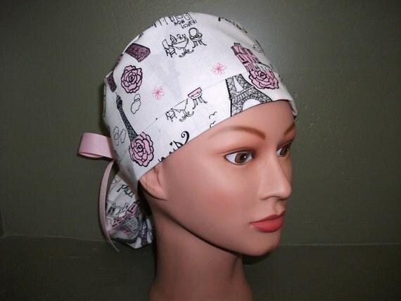 Paris ponytail scrub cap