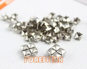 5mm Silver Pyramid Stud Punk Rock Leathercraft Stud (SP05)