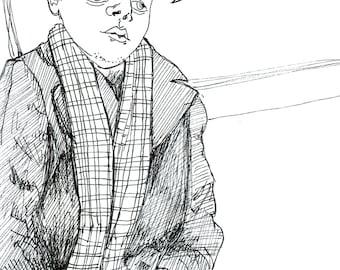 Subway Portrait - I have a yellow voice