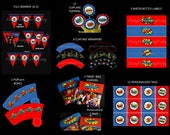 Instant Download - Printable Superhero Standard Party Package - Personalized Birthday