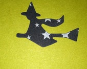 50  WITCH on BROOM party decorations,Invitations,scrapbooking, HALLOWEEN cards