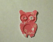 50 PINK  OWLS with flowers Hand Punched Die Cuts Confetti, Birthday party Invitations,scrapbooking, cards