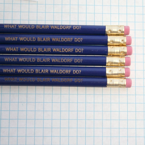 what would blair waldorf do 6 pencils in royal blue