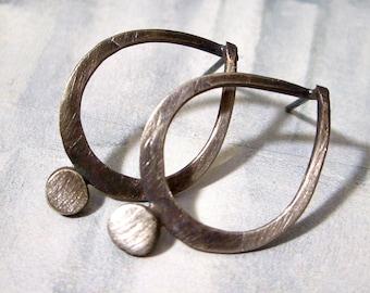 Eyelet Post Earrings in Sterling Silver