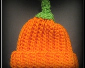 Crochet Pumkin Hat and Diaper Cover Set Made to Order
