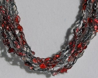 Peppermint Ice - Hand Crocheted Necklace