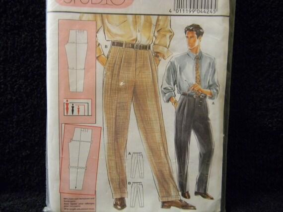 Uncut Burda Pattern 4424 Size US 34-48 Europe 44-58 Men's Pants