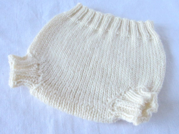 Knit Wool Soaker Diaper Cover (custom - made to order)