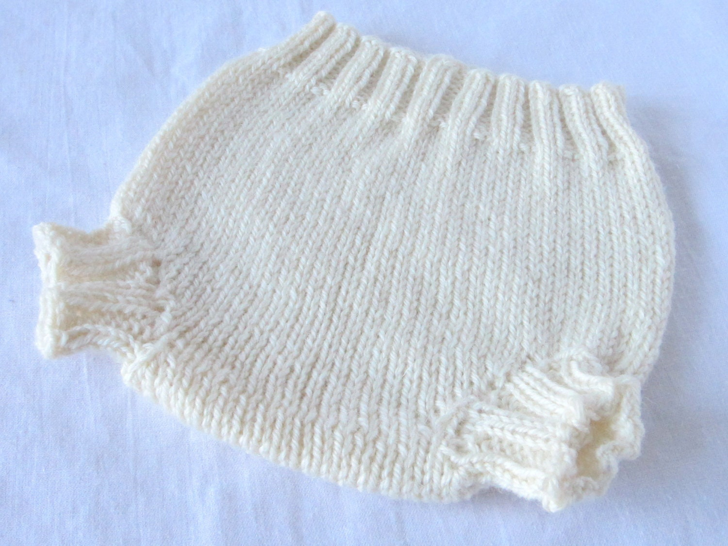 Knitting Pattern For Wool Diaper Covers : Knit Wool Soaker Diaper Cover custom made to order
