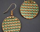 Copper Dangle Earrings Microfolds