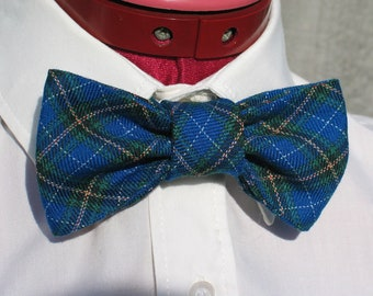 Nova Scotia Tartan Bow Tie, Blue Plaid Bow Tie, Bluenose Bow Tie, Taylors Tartans, Small Scale Tartan Bow Tie, Man Bow Tie