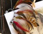 woodland wonder  - feather ear cuff, hippie, bohemian, gypsy, woodland, tribal
