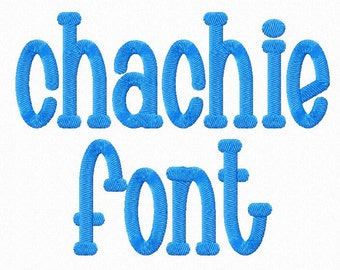 Chachie Machine Embroidery Font Alphabet - 3 Sizes