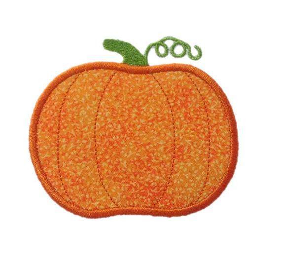 Applique Pumpkin Machine Embroidery Design - 4 Sizes