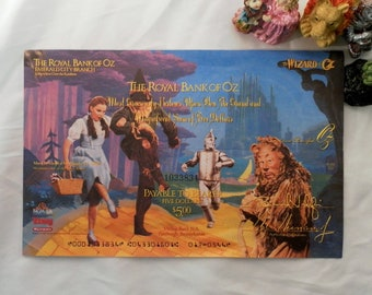 1989 The Royal Bank of Oz 5 Dollar.  Mail In Promotional Rebate Check Downy and Turner Entertainment.  Numbered 1033834