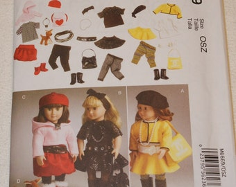 New McCall's 18' doll Clothes Pattern M6669