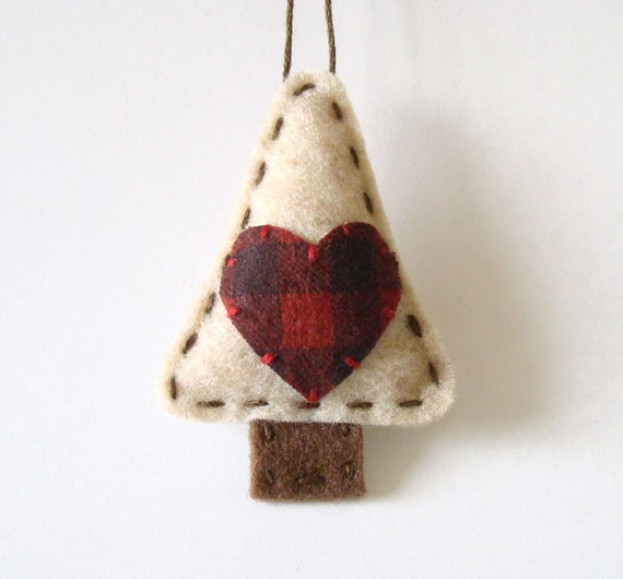 Primitive Christmas Decorations Felt Ornament By