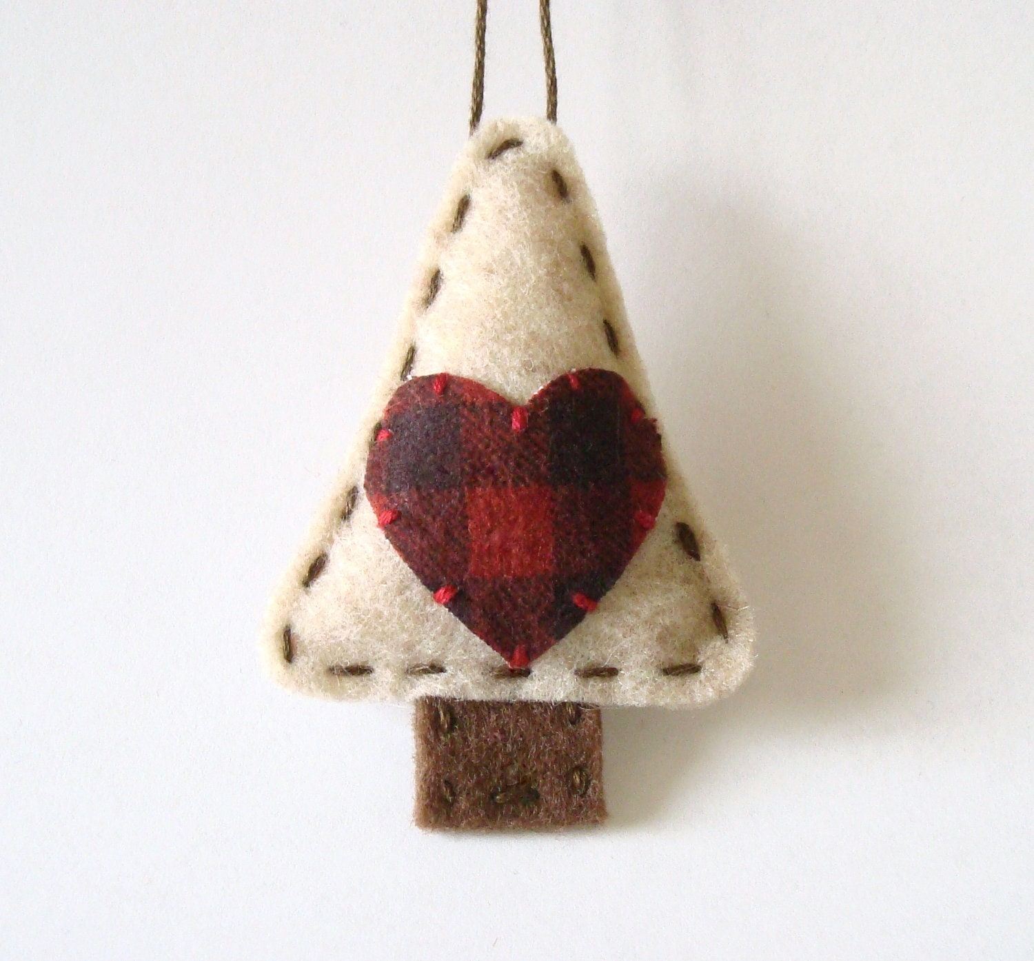 Primitive Christmas Decorations Felt Ornament Rustic Holiday