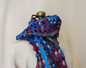 Hand Felted Lattice Scarf