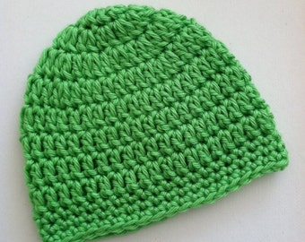 Lime Green Gumdrop Beanie, Crochet Baby Hat, Newborn Hat, Baby Hat, Crochet Baby Beanie, Photo Prop