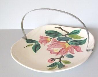 Cottage Chic Serving Dish English Garden Basket  Mid Century Platter Platter