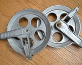 Vintage Industrial Pulley - Clothes Line Pulleys - Metal Pulley - Industrial Decor