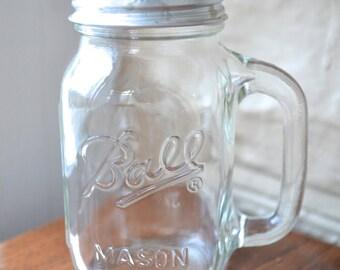Mason Jar Salt and Pepper Shakers - Glass Shaker - Ball Mason Tumbler Glasses