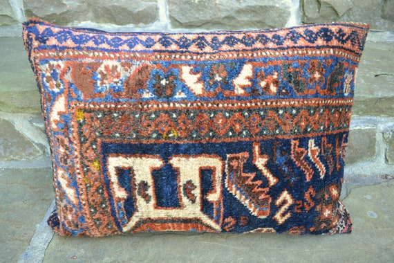 Vintage Kilim Pillow Persian Rug Cushion By