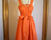 Vintage 1980's Leslie J Orange Sundress - Size 4