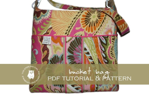 Bucket Bag - PDF Tutorial & Pattern