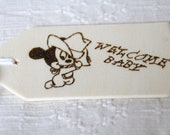 Personalized Baby Gift Tag- New Baby Welcome with Mickey