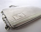 early 20th century sterling silver purse. small evening bag. edwardian loveliness