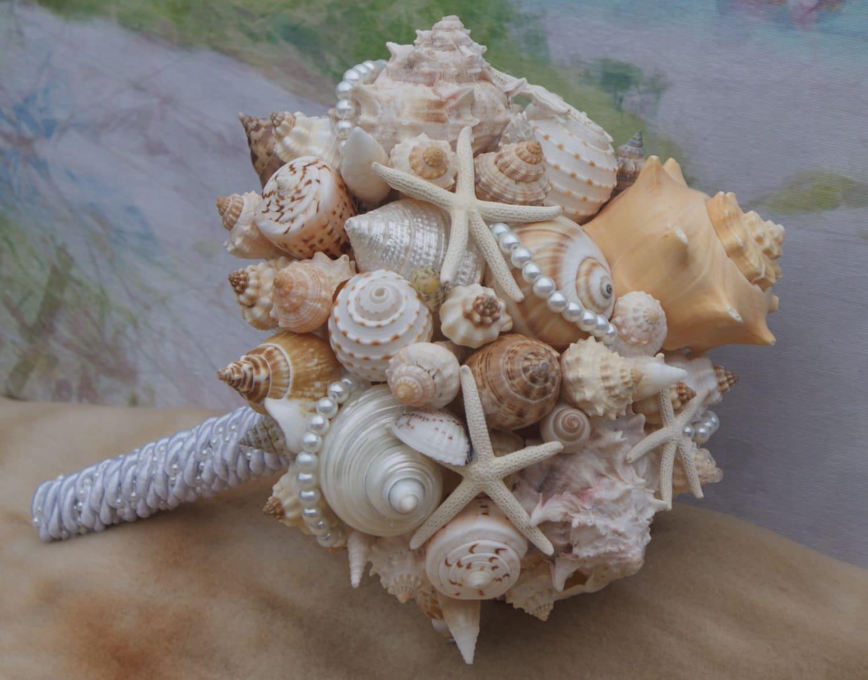 Bridesmaid Seashell Bouquet Beach Bouquet Destination