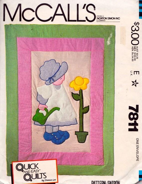 McCall s 7811 Sunbonnet Girl Quilt Pattern UNCUT by tealducktoo