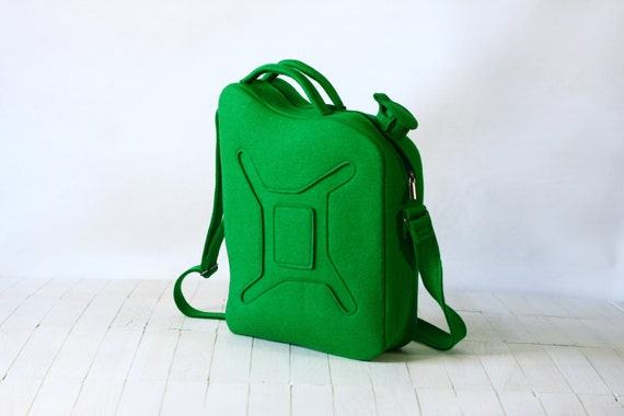 Green Felt Gas Can Bag
